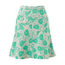 Buy Whistles Fit and Flare Pansy Skirt, Green/Multi Online at johnlewis.com