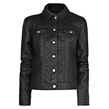 Buy Mango 2 Buttoned Jacket, Black Online at johnlewis.com