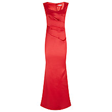 Buy Planet Sateen Maxi Dress, Scarlet Online at johnlewis.com