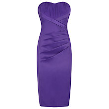Buy Planet Bustier Chiffon Insert Dress, Dark Purple Online at johnlewis.com