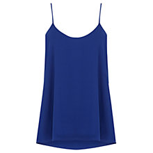 Buy Oasis Dipped Back Camisole, Rich Blue Online at johnlewis.com