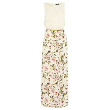 Buy Oasis Floral 2 In 1 Maxi Dress, Multi White Online at johnlewis.com