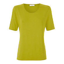 Buy Windsmoor Basic Jersey Top, Green Apple Online at johnlewis.com