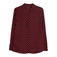 Buy Mango Heart Print Shirt, Black Online at johnlewis.com