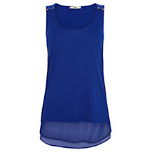 Buy Oasis Studded Vest Top, Rich Blue Online at johnlewis.com