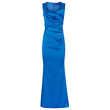 Buy Alexon Sateen Maxi Dress, Blue Online at johnlewis.com