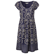 Buy White Stuff Summer Blossom Dress, Dark Periwinkle Online at johnlewis.com