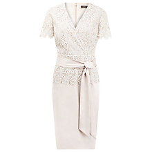 Buy Alexon Lace Peplum Dress, Neutral Online at johnlewis.com