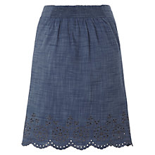 Buy White Stuff Chambray Cutwork Skirt, Moonlight Online at johnlewis.com