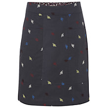Buy White Stuff Bee Embroidered Skirt, Dark Moonlight Online at johnlewis.com