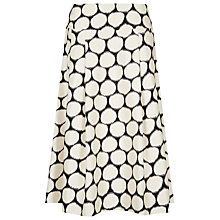 Buy Jacques Vert Spot Print A-Line Skirt, Multi Cream Online at johnlewis.com