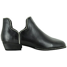 Buy Senso Blake V Cut Out Detail Ankle Boots, Black Online at johnlewis.com