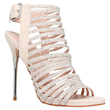 Buy Carvela Strappy Diamante Occasion Shoes, Nude Online at johnlewis.com