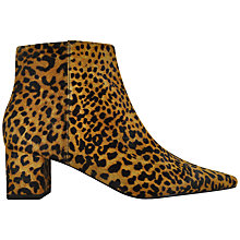 Buy Senso Paloma III Pointed Ankle Boots, Maple Leopard Pony Online at johnlewis.com
