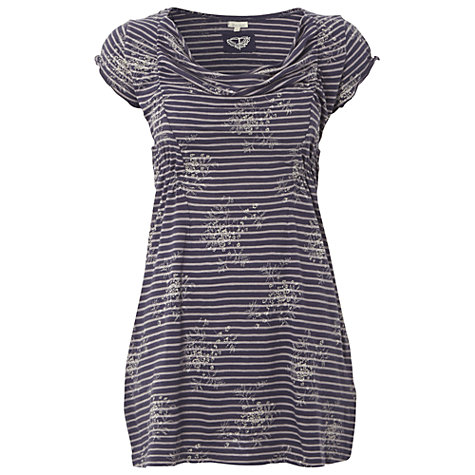 Buy White Stuff Short Sleeve Honeysuckle Tee, Dark Periwinkle Online at johnlewis.com