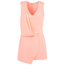 Buy Miss Selfridge Draped Skort Playsuit, Peach Online at johnlewis.com