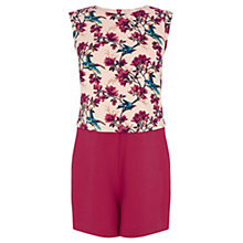 Buy Oasis Bird Print Lana Playsuit, Multi Online at johnlewis.com