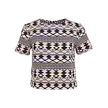 Buy Miss Selfridge Aztec T-Shirt, Multi Online at johnlewis.com