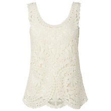 Buy White Stuff Lilly Lace Vest Top, Tealight Online at johnlewis.com