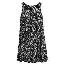 Buy Mango Printed Flared Dress, Black/White Online at johnlewis.com