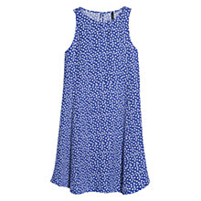 Buy Mango Printed Flared Dress, Dark Blue Online at johnlewis.com