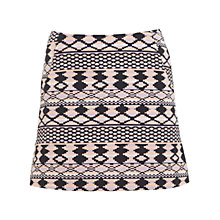 Buy Miss Selfridge Aztec Mini Skirt, Multi Online at johnlewis.com