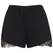 Buy Miss Selfridge Lace Insert Shorts, Black Online at johnlewis.com