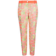 Buy Ted Baker Iimenio Jacquard Tapered Trousers, Light Pink Online at johnlewis.com