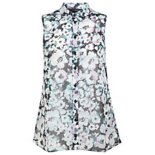 Buy Miss Selfridge Sleeveless Floral Shirt, Multi Online at johnlewis.com