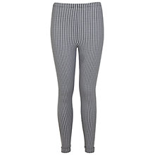 Buy Miss Selfridge Gingham Tube Trousers, Black / White Online at johnlewis.com