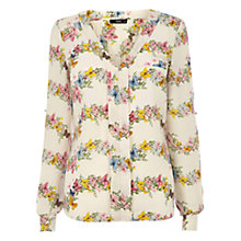Buy Oasis Butterfly Stripe Floral Shirt, Multi Online at johnlewis.com