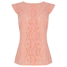 Buy Oasis Pintuck Lace Top Online at johnlewis.com
