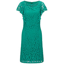 Buy Adrianna Papell Flutter Sleeve Beaded Dress, Veridian Online at johnlewis.com