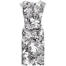 Buy Adrianna Papell Faux Wrap Sheath Dress, Black/Multi Online at johnlewis.com