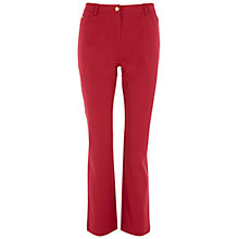 Buy Viyella Petite Smart Jeans, Dark Red Online at johnlewis.com