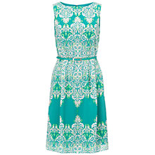 Buy Adrianna Papell Baroque Print Dress, Green/Multi Online at johnlewis.com