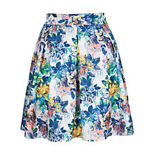 Buy Closet Floral Print Scuba Skirt, Multi Online at johnlewis.com