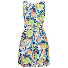 Buy Closet Quilted Floral Scuba Dress, Multi Online at johnlewis.com