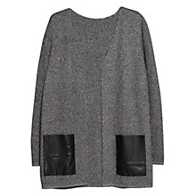Buy Violeta by Mango Metallic Thread Cardigan, Black Online at johnlewis.com