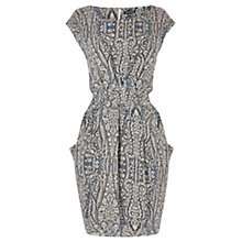Buy Warehouse Paisley Dipped Hem Dress, Multi Online at johnlewis.com