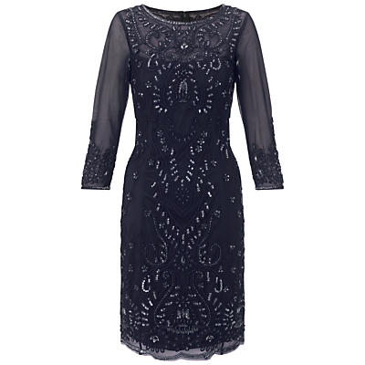 Adrianna Papell Short Bead Dress, Navy