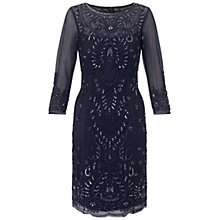 Buy Adrianna Papell Short Bead Dress, Navy Online at johnlewis.com