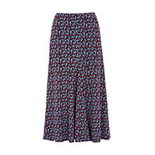 Buy Viyella Sprig Print Jersey Skirt, Cherry Online at johnlewis.com