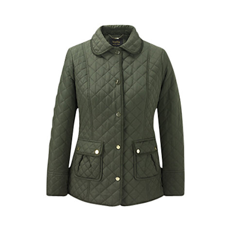 Buy Viyella Quilted Riding Jacket, Khaki Online at johnlewis.com