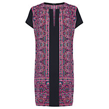 Buy Warehouse Ethnic Border Print Shift Dress, Multi Online at johnlewis.com