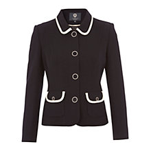 Buy Viyella Petite Crepe Jacket, Navy Online at johnlewis.com