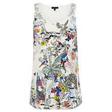 Buy Warehouse Bird Print Vest Top, Multi Online at johnlewis.com