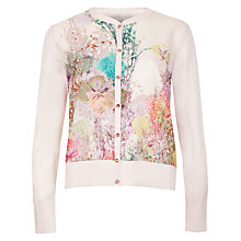 Buy Ted Baker Wispy Meadow Cardigan, Light Pink Online at johnlewis.com