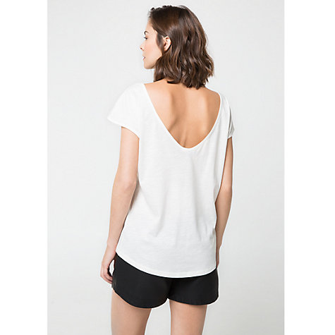Buy Mango Embroidered Heart T-Shirt, White Online at johnlewis.com