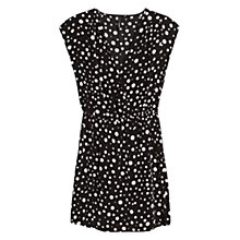 Buy Mango Polka Dot Dress, Black Online at johnlewis.com